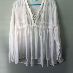 🌟4/$20🌟Maurices white boho peasant blouse
